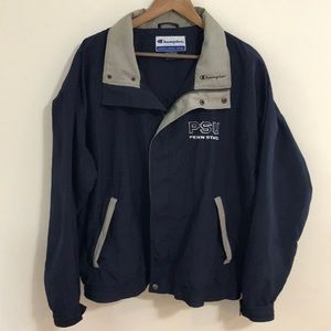 CHAMPION Sz L PENN STATE Nylon Windbreaker